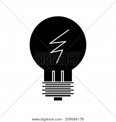 lamp line idea  icon, vector illustration, black sign on isolated background