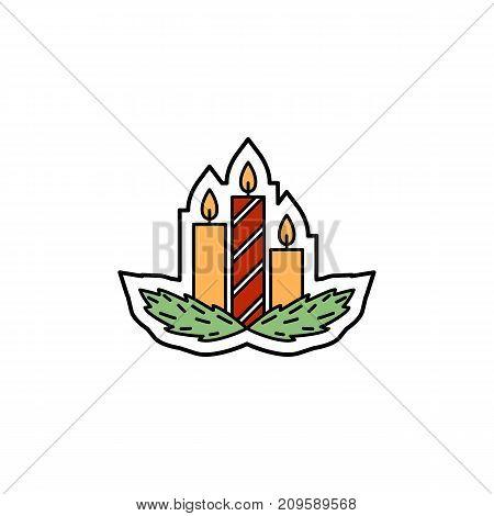 Vector illustration of a Christmas jingle bell. Christmas nad New Year theme