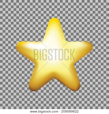 Star Vector Icon, Rank, Gold Favorite Web Symbol