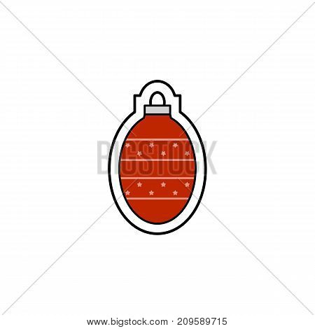 Vector illustration of a Christmas decoration. Christmas nad New Year theme