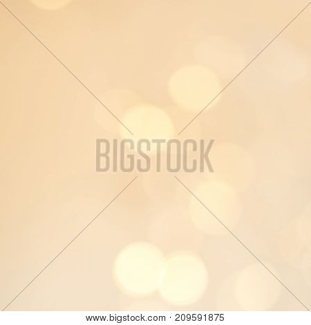 Yellow Abstract glitter lights and stars. Festive vintage glittering Christmas background