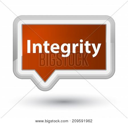 Integrity Prime Brown Banner Button