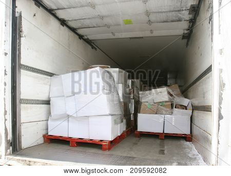 truck at the loading site