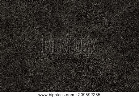 Black wall texture of natural cement concrete wall. Old concrete wall as banner grunge