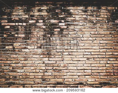 Old vintage brick wall Texture Design. Empty red brick Background for Presentations and Web Design. A Lot of Space for Text Composition art image, website, magazine or graphic for design.