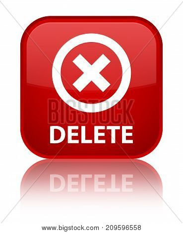 Delete Special Red Square Button