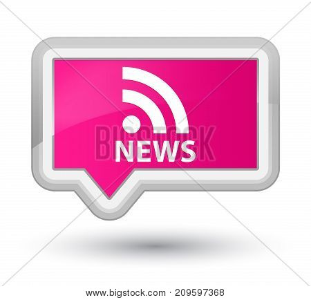 News (rss Icon) Prime Pink Banner Button
