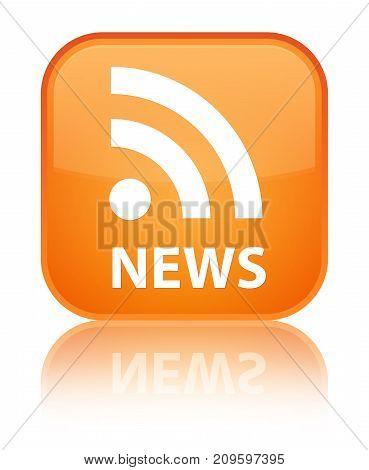 News (rss Icon) Special Orange Square Button