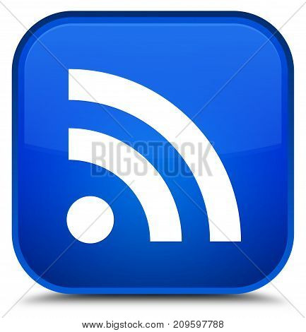 Rss Icon Special Blue Square Button