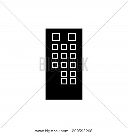 tv pult  icon, vector illustration, black sign on isolated background