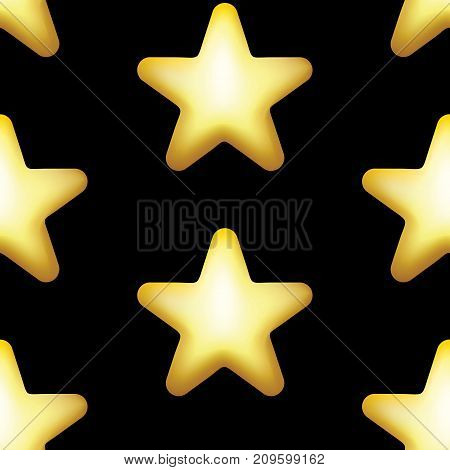 Star Vector Icon, Rank, Gold Favorite Web Symbol Seamless Patter