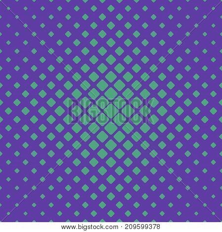 Simple abstract halftone green rounded square pattern background - vector design with diagonal squares