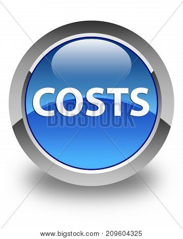 Costs Glossy Blue Round Button