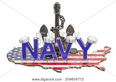 Navy Day in USA concept 3D rendering isolated on white background