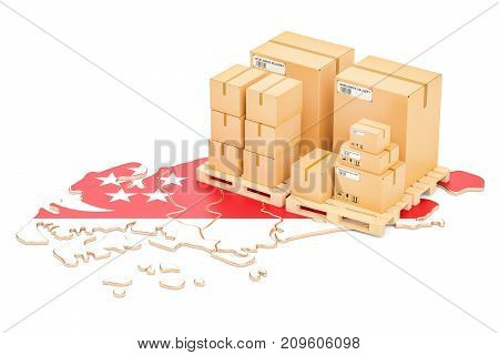 Shipping and Delivery from Singapore isolated on white background