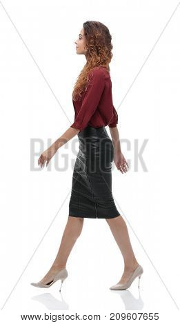side view.modern young business woman.