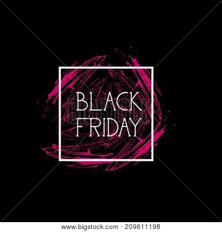 Black Friday Flyer Special Offer Banner Holiday Sale And Shopping Discount Concept Vector Illustration
