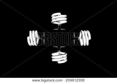 fluorescent light bulb shine spiral energy consumption lamp electricity wallpaper background minimalism decor