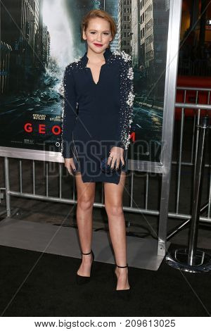 LOS ANGELES - OCT 16:  Talitha Bateman at the Geostorm Premiere at the TCL Chinese Theater IMAX on October 16, 2017 in Los Angeles, CA