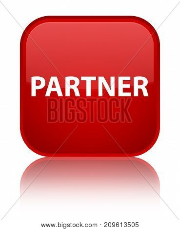 Partner Special Red Square Button