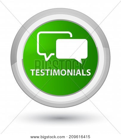 Testimonials Prime Green Round Button