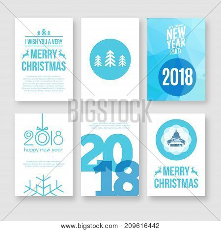 Christmas vector holiday greeting card background. Merry xmas greeting card flyer for new year celebration.