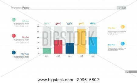 Business statistics chart slide template. Business data. Graph, diagram. Creative concept for infographic, presentation, report. Can be used for topics like investment, marketing, economics