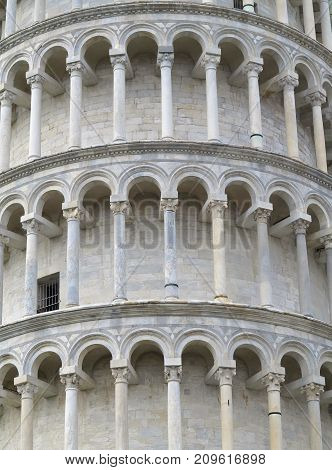 Leaning Tower Of Pisa Near Cathedral Duomo On Piazza Dei Miracoli Pisa, Tuscany, Italy