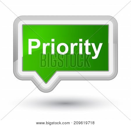 Priority Prime Green Banner Button