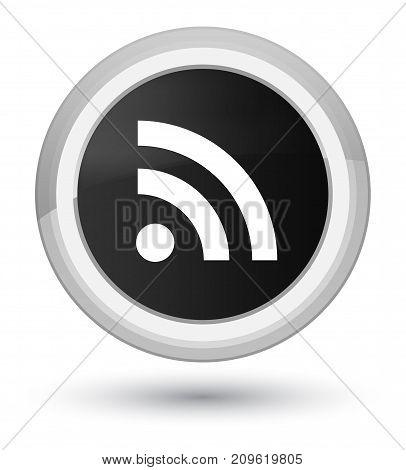 Rss Icon Prime Black Round Button