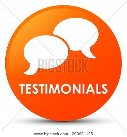 Testimonials (chat Icon) Orange Round Button
