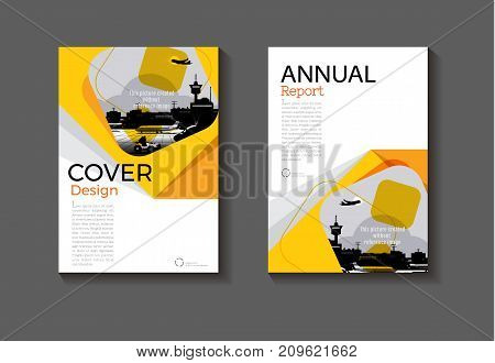 abstract yellow modern cover design modern book cover Brochure cover templateannual report magazine and flyer layout Vector a4