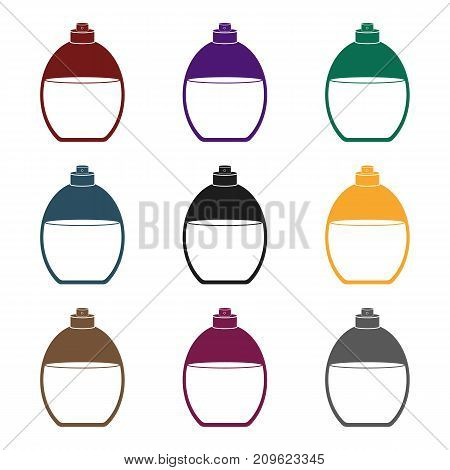 Perfume icon in black style isolated on white background. Make up symbol vector illustration.