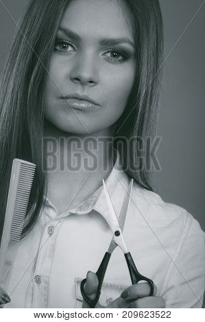 Hairdresser With Tools.