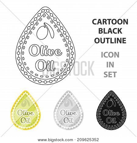 Label of olive oil.Olives single icon in cartoon style vector symbol stock illustration .