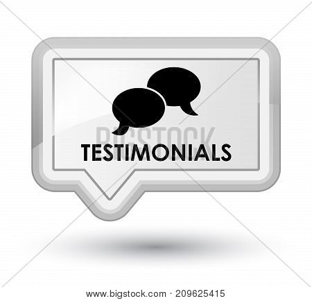Testimonials (chat Icon) Prime White Banner Button