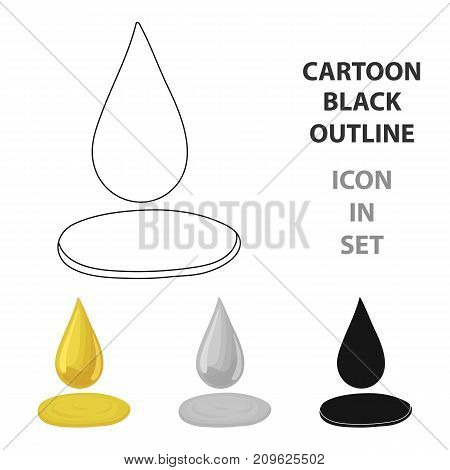 A drop of olive oil.Olives single icon in cartoon style vector symbol stock illustration .
