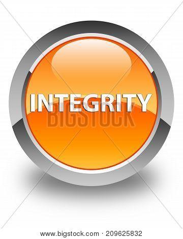 Integrity Glossy Orange Round Button