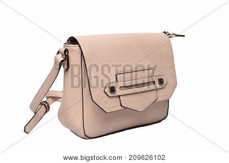 pink fashion bag photo with white background