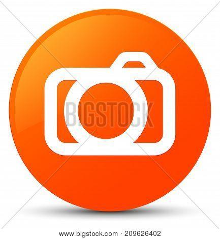 Camera Icon Orange Round Button