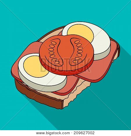 Sandwiches, single icon in flat style.Sandwiches, vector symbol stock illustration .