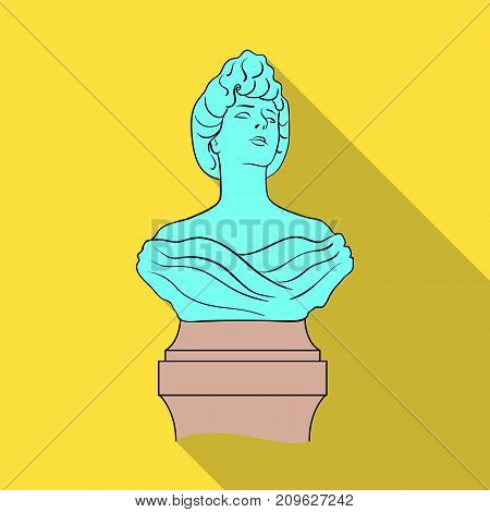 Monument, single icon in flat style.Monument vector symbol stock illustration .
