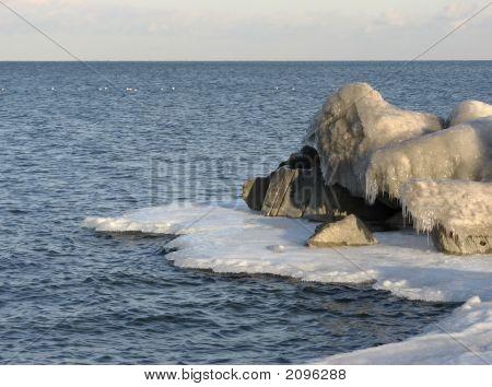Ice Encrusted Rocks