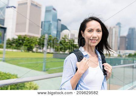 Woman visit Hong Kong