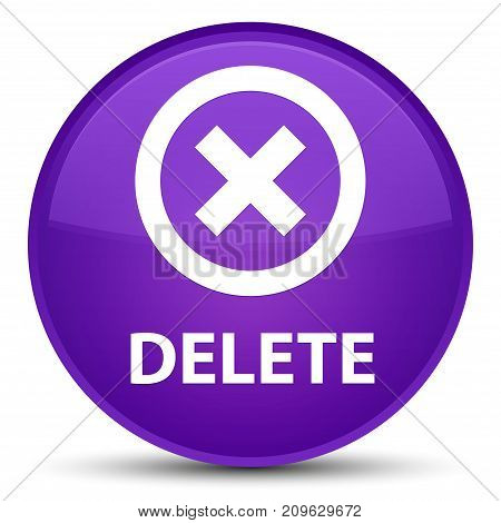 Delete Special Purple Round Button