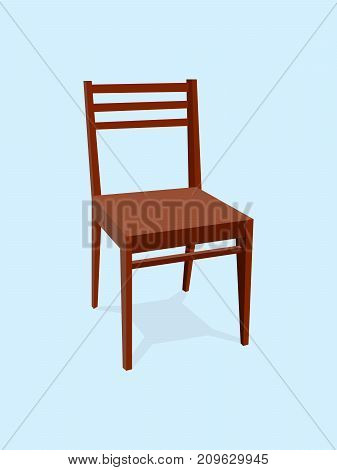 Chair wood classic detailed single object realistic design vector illustration eps10