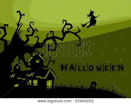 abstract scary halloween background, illustration