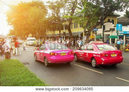 BANGKOK, THAILAND - NOVEMBER 2, 2016: Taxi-Meter in Bangkok, Thailand