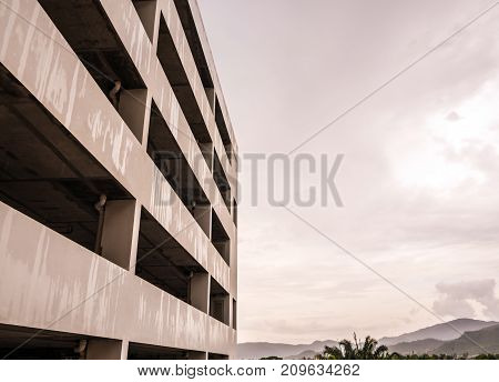 The Multi-storey Of Old Car Park Building