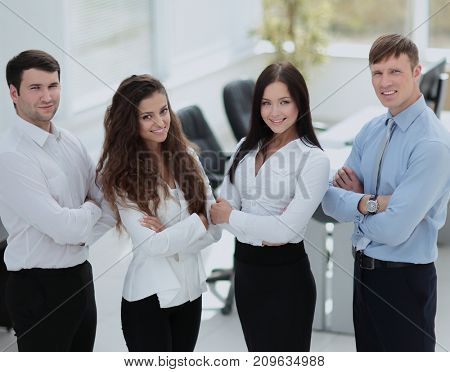 portrait of a successful and professional business team in the b